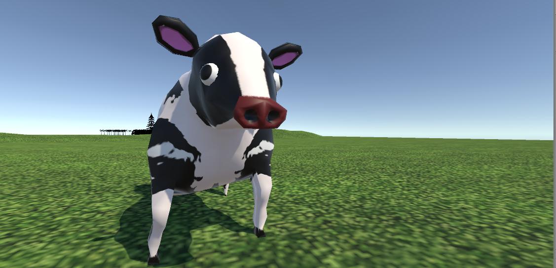 牛のモデリングイメージ